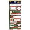 Christmas Greetings Cardstock Stickers With Foil Accents