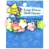 8-Pack Flower-Shaped Shell Charms