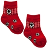 Red Soccer Rocker Baby Socks Set For 0-12 Months