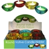 Thick Glass Round Votive Candle Holder