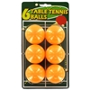 6-Pack Orange Table Tennis Balls