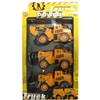 3-Pack Friction-Powered Construction Trucks