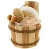 Bath Set In Wood Barrel