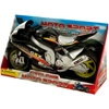 Friction Powered Toy Motorcycle With Sound and Light