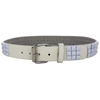 Extra Large White Pyramid Studded Belt
