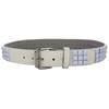 Extra Large White Pyramid Studded Belt