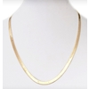 6Mm Gold Herringbone Necklace- 24 Inch