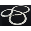 Herringbone Necklace In Heavy Rhodium Finish
