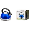 Stainless Steel Whistling Tea Kettle - Blue / 2.8L