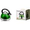Stainless Steel Whistling Tea Kettle - Green / 2.8