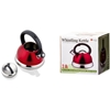 Imperial Home Stainless Steel Whistling Tea Kettle - Red Matte