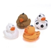 "2"" Assorted Sports Rubber Ducks"