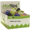 Hottips Tray Pack Audio Cable Assorted- 6 Packs Of 24