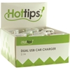 Hottips Tray Pack 2.1A Dual Usb Car Charger- 4 Packs Of 16
