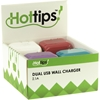Hottips Tray Pack 2.1A Dual Usb Wall Charger- 8 Packs Of 10