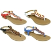 Women'S Braided And Beaded Sandals