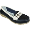Women'S Black Two Tone Leather Moccasins
