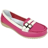 Women'S Fuchsia Two Tone Moccasins