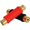 Db Link - Plastic Grip Gold Barrel Connectors, 2 Pack (Female/Female)