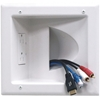 Datacomm Electronics - Recessed Low-Voltage Media Plate With Duplex Receptacle