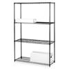 "Lorell Starter Shelving Unit,4 Shelves/4 Posts,36""X18""X72"",Black"