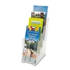 """Deflect-O Corporation 4-Tier Literature Holder, Leaflet, 4-7/8""""X1""""X12"""", Clear"""
