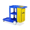 "Continental Mfg. Co. Janitorial Cart, W/ 25 Gallon Bag, 55""X30""X38"", Blue"