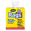 "Kimberly-Clark Rags In A Box, W/ Handle, 10""X13"", 200 Towels/Bx, White"