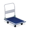 "Sparco Products Folding Platform Truck,330 Lb,18-1/8""X29""X29-1/2"",Blue/Gray"