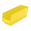 """Akro-Mils Shelf Bin,Grease/Oil Resistant,4-1/8""""X11-5/8""""X4"""",Yellow"""