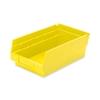"""Akro-Mils Shelf Bin,Grease/Oil Resistant,6-5/8""""X11-5/8""""X4"""",Yellow"""