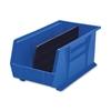 """Akro-Mils Bins, Unbreakable/Waterproof, 8-1/4""""X14-3/4""""X7"""" Blue"""