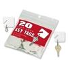 Mmf Industries Key Tags, Square, Plain, 20/Pk, White