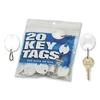 Mmf Industries Plastic Key Tags, Oval, Plain, 20/Pk, White