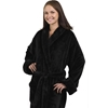Unisex Tahoe Fleece Bathrobe - Black