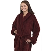 Unisex Tahoe Fleece Bathrobe - Burgundy