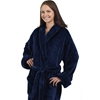 Unisex Tahoe Fleece Bathrobe - Navy Blue