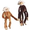 Plush Natural Colored Hanging Monkeys