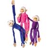 Jumbo Plush Multicolor Hanging Monkeys -
