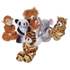 Plush Wild Animals With Floppy Legs And Velcro Hands