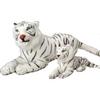 Plush Jumbo Realistic White Tigers