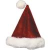 Santa Hat Velvet Plush Burgundy