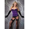 Women'S Bustier Purple/Black-Small