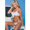 Women'S Bra and Panty Set-White, Large