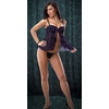 Purple/Black Babydoll With G-String Large