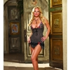 Babydoll and Thong Black/Floral Medium