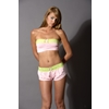 Women'S Bandeau Top: Pink-Large
