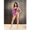 Babydoll and Thong Purple