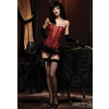 Women'S Betty Corset: Black/Red-Small