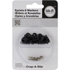 "3/16"" Eyelets and Washers 30/Pkg-Black"